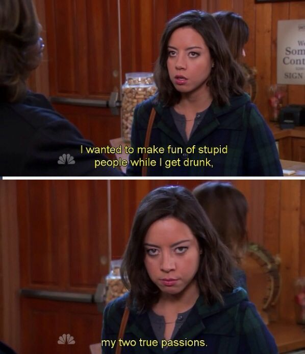 April Ludgate quote - Parks and Recreation @erikakerr