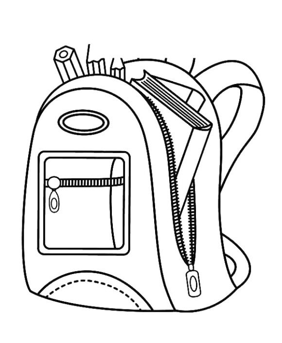 Backpack Coloring Page Cloth Bags Unique Backpacks Backpacks