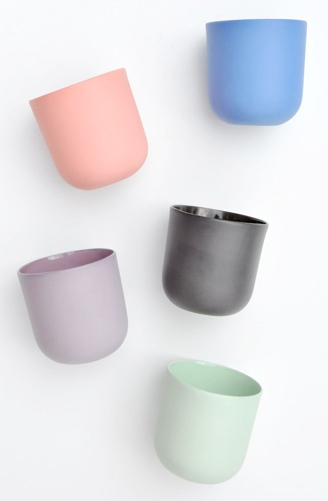 new arrival: matte ceramic cup, $25 each