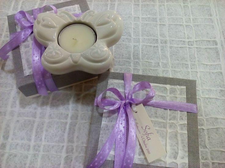 Porta tea light Wald con confezione di pregio.
