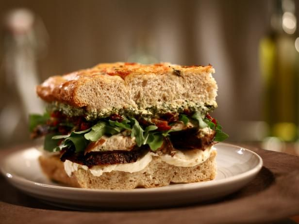 The Sandwich King's Fresh Focaccia With Marinated Chicken and Spinach and Artichoke Spread : Fresh Focaccia is Jeff's secret to making this sandwich amazing, while grilled marinated chicken is the star.