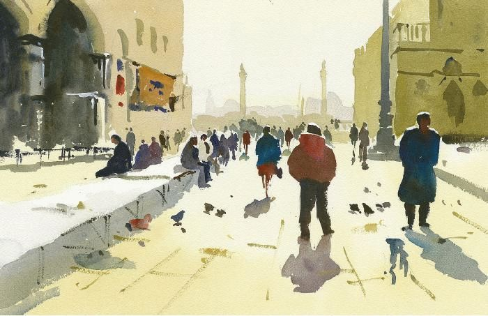 How to paint people and figures in watercolour townscapes for Watercolor painting classes near me