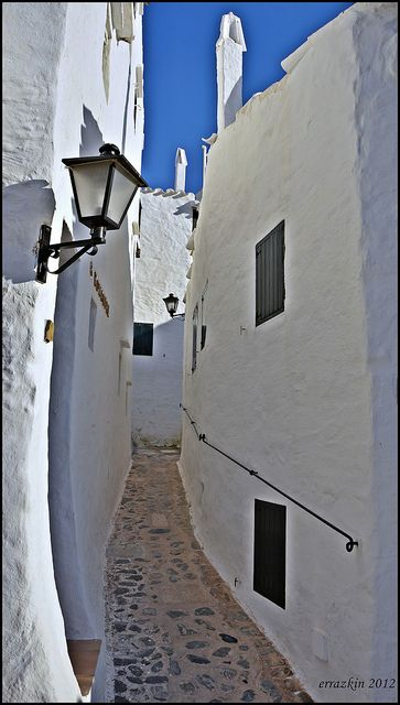 White Street, Menorca, Spain