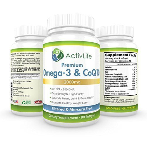 ActivLife Omega 3 Fish Oil and CoQ10 2000mg Optimizes Heart Health 90 Softgel Capsules For Sale https://weightlossteareviews.info/activlife-omega-3-fish-oil-and-coq10-2000mg-optimizes-heart-health-90-softgel-capsules-for-sale/