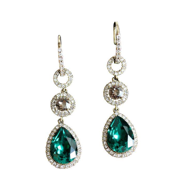 Amy earrings Emereld