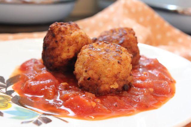 Arancini balls with Parmigiana Sauce