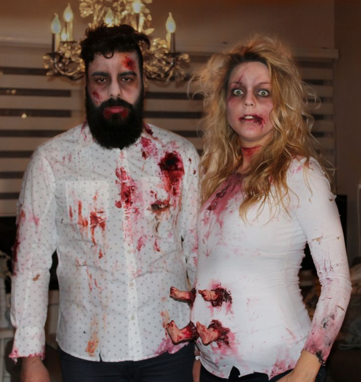 zombie, couple, pregnant, baby, beard, halloween, carnaval, creepy, costume. By Maria-Rosa Art & Styling