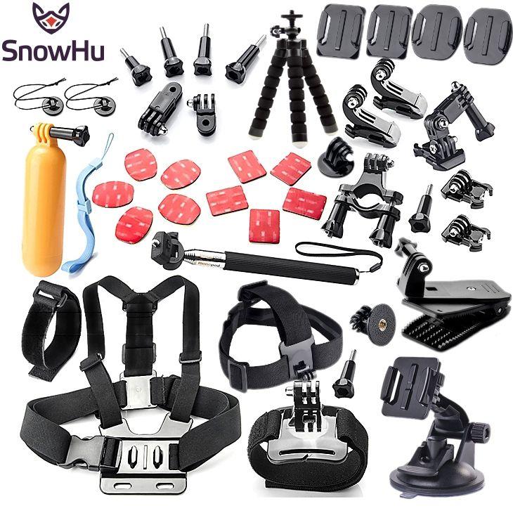 Gopro accessories set chest mount for gopro hero 5 4 3 Eken h9 r h8 SJCAM SJ5000 camera tripod for go pro kit xiaomi yi 4K GS52