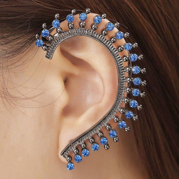 Ear Cuff Wrap Earrings Rhinestone Left Cuff Earrings ...