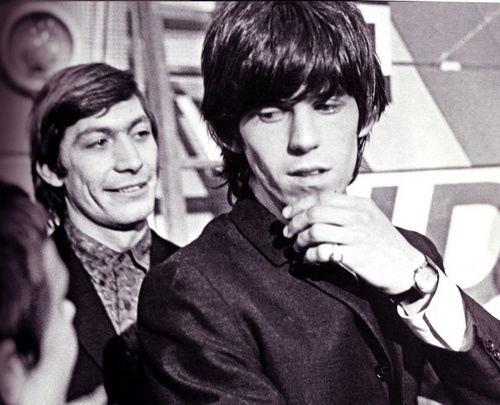 Keith Richards and Charlie Watts of The Rolling Stones