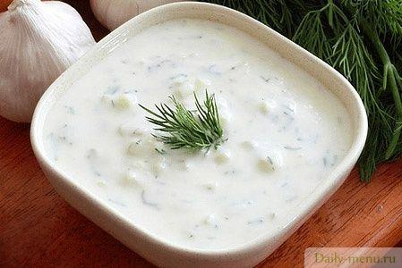 """Греческий соус-закуска """"Джадзики"""" - Рецепты пользователя Edel Weiss - Daily-menu.ru"""