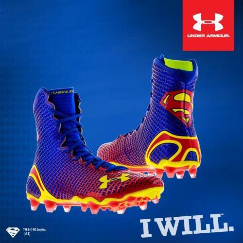 Superman - Under Armour Alter Ego Highlight MC Football Cleats