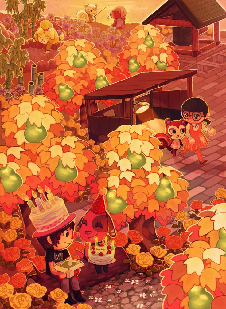 Anniversaire d'automne .  Image ACNL.