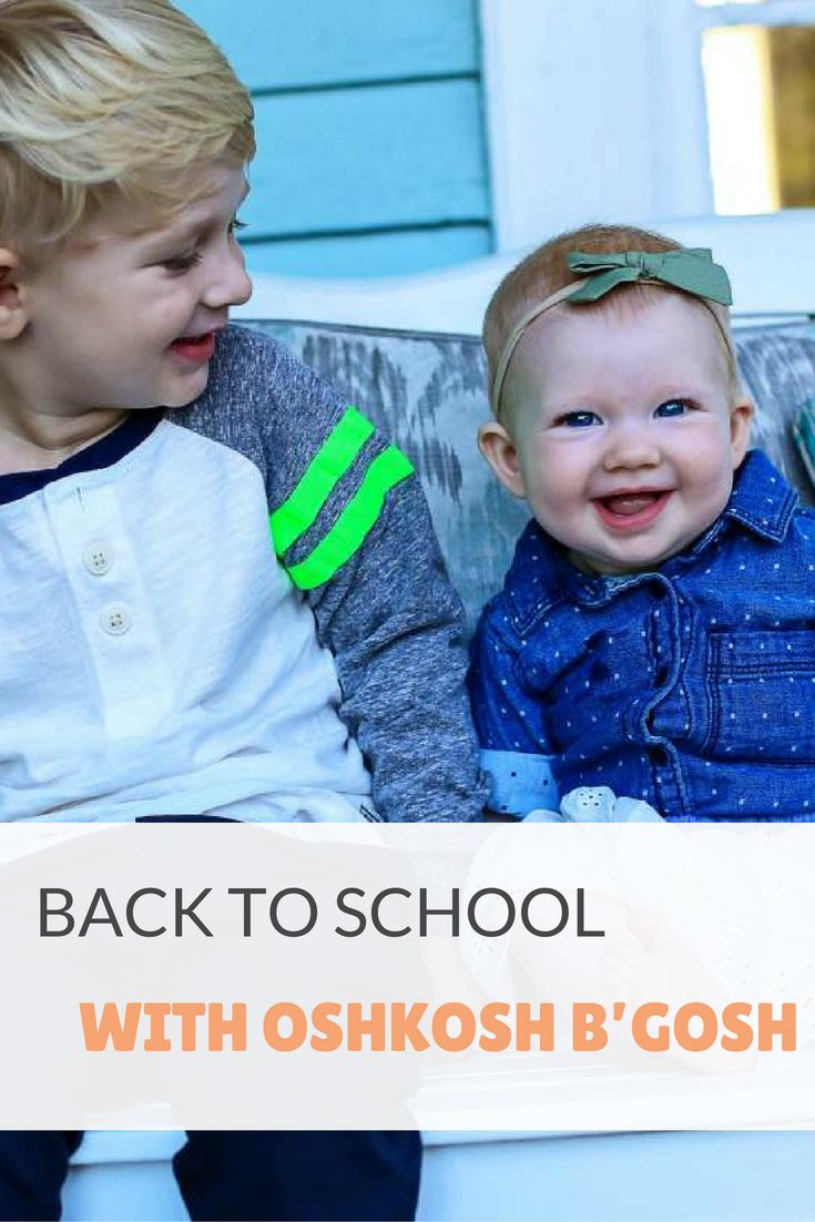 Back to School with OshKosh B'Gosh for boys and girls and a coupon code!