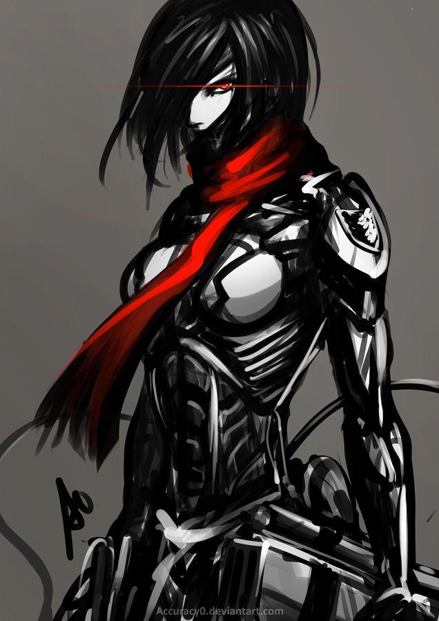 Mikasa  - Shingeki no Kyojin  Crossover:  Metal Gear Rising [+] Attack On Titan.