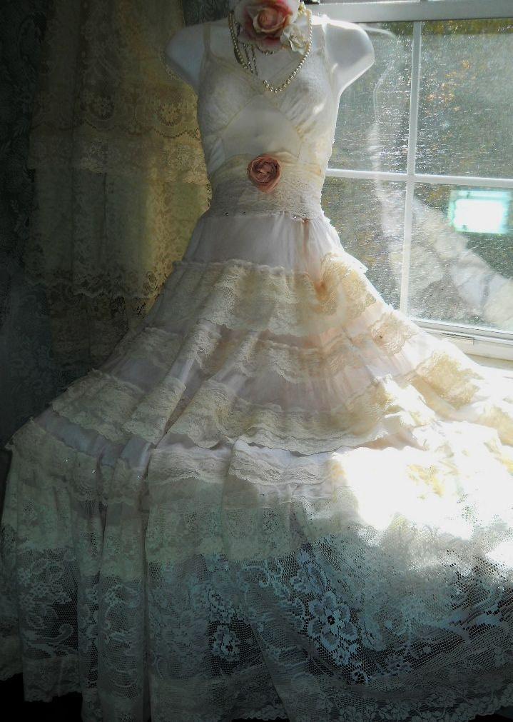 Image Detail For Shabby Chic Wedding Dresses Cream