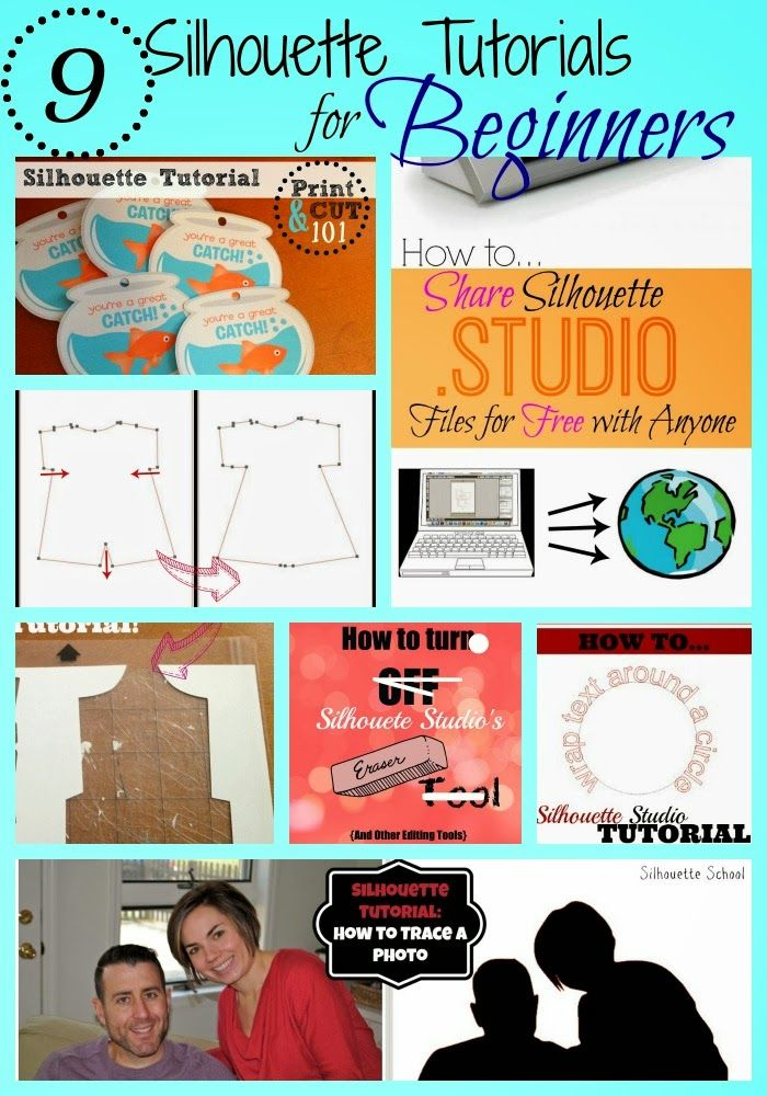 9 Basic Silhouette Tutorials for beginners. www.silhouetteschool.blogspot.com