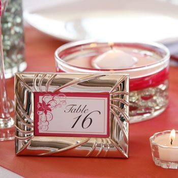 Bulk Wedding Idea: Framed Table Numbers or Place Cards at DollarTree.com