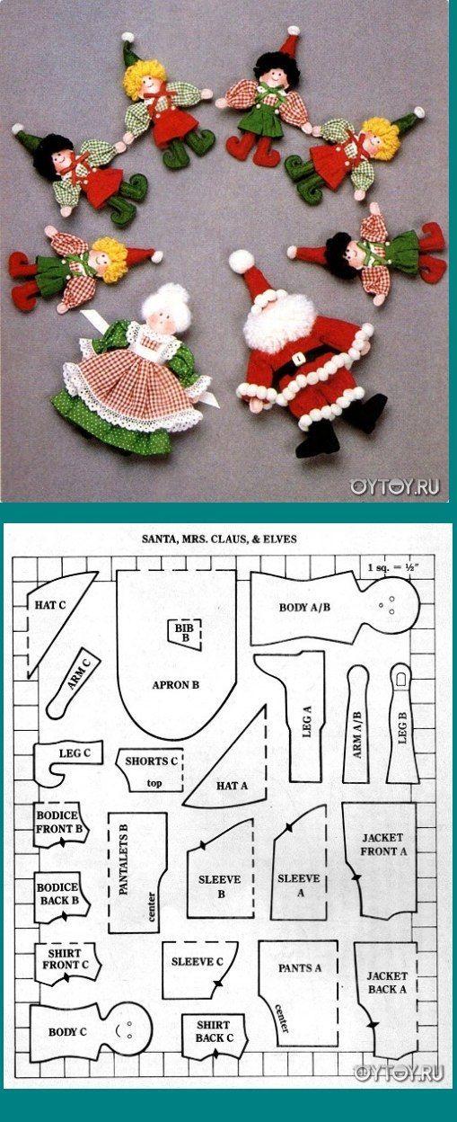 Enfeites De Natal com moldes