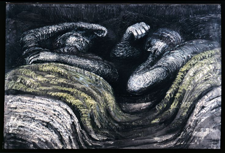 'Two Sleepers in the Underground' Moore, 1941.