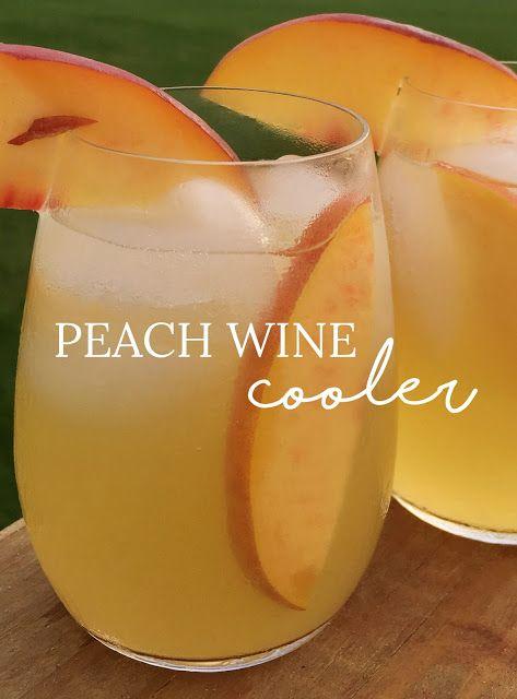 Summer Recipe Peach Wine Cooler Lavender Elizabeth Lifestyle