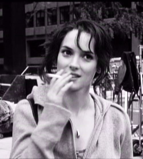 Winona Ryder Smoking Cigarette