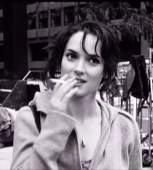Winona Ryder Smoking Cigarette