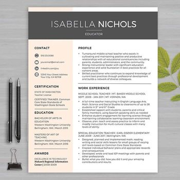 The 25+ best Teacher resume template ideas on Pinterest Resumes - pages resume templates mac
