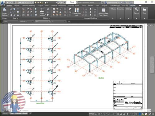 Autodesk Advance Steel 2019  Level I | Autodesk Advanced