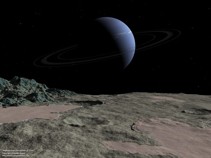 Neptune As Seen From Its Moon Triton Neptune Gas