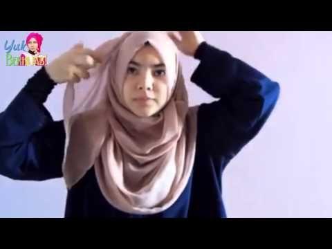 #37 Cara Pakai Hijab Segi Empat Modis Terkini Mudah dan Simple - Trend Gaya Hijab 2015 - YouTube