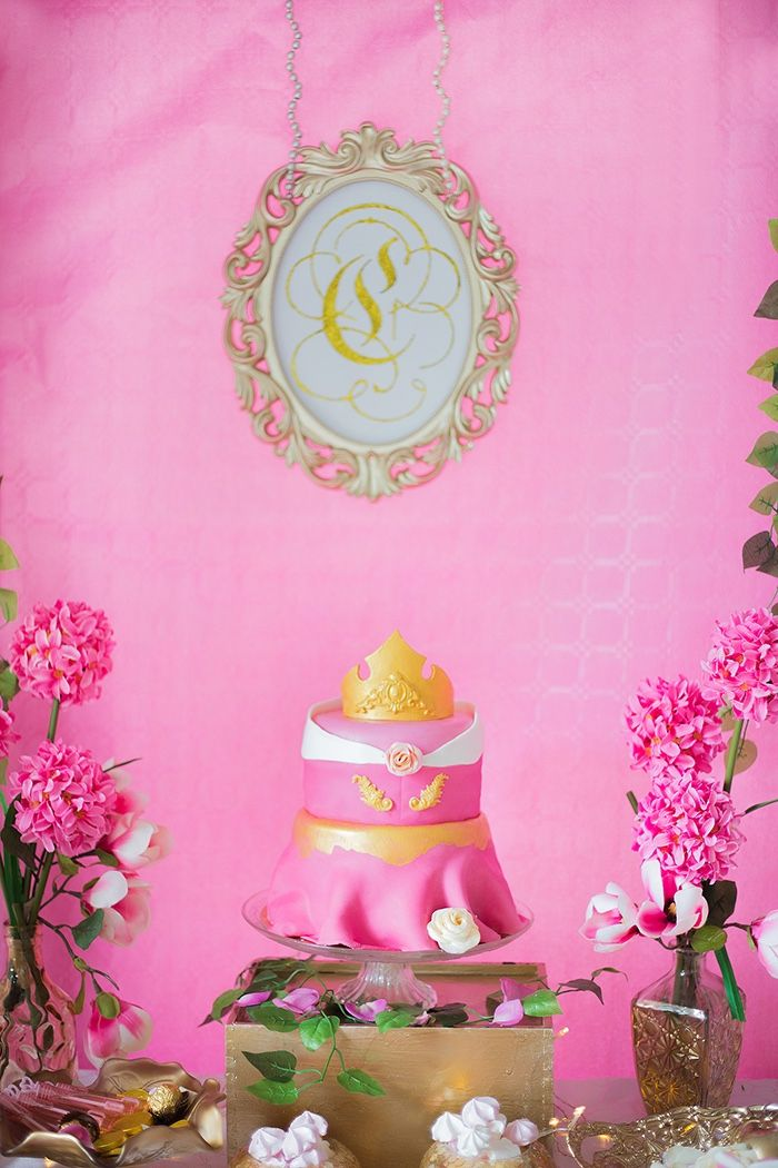 Sleeping Beauty Dress Cake From A Perfectly Pink Birthday Party On Karas Ideas