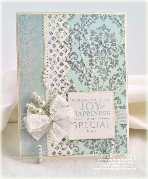 pretty wedding card! by jaclyn