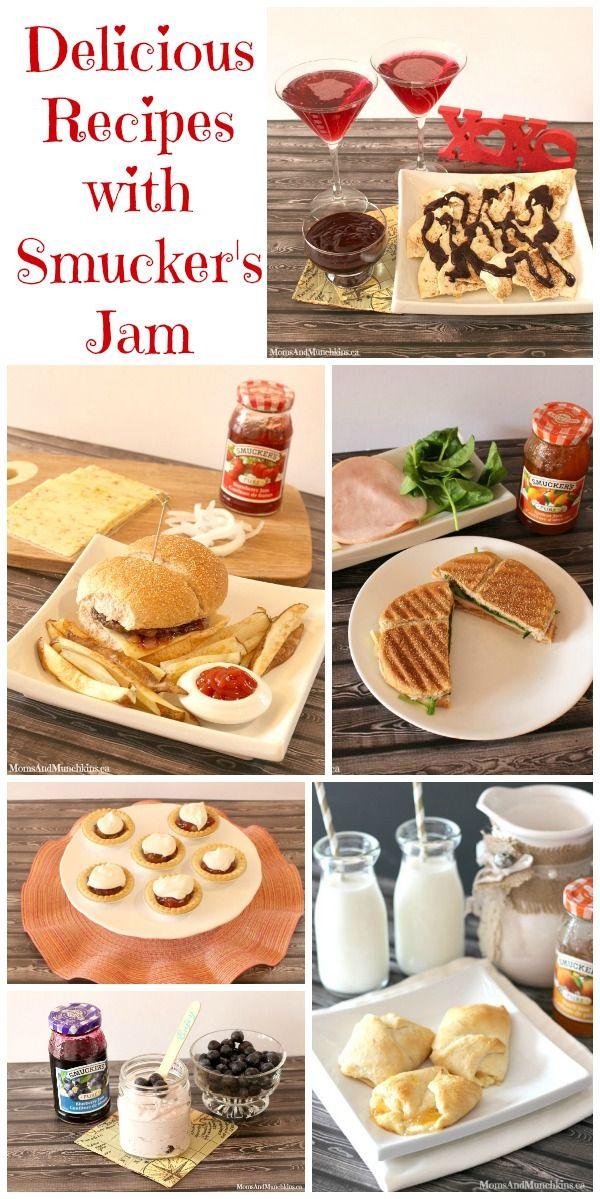 Delicious Recipes Using Smucker's Jams (all 5 ingredients or less, 15 minutes or less to make) #Recipes #PairingIdeas http://www.momsandmunchkins.ca/2014/07/07/recipes-with-jam/