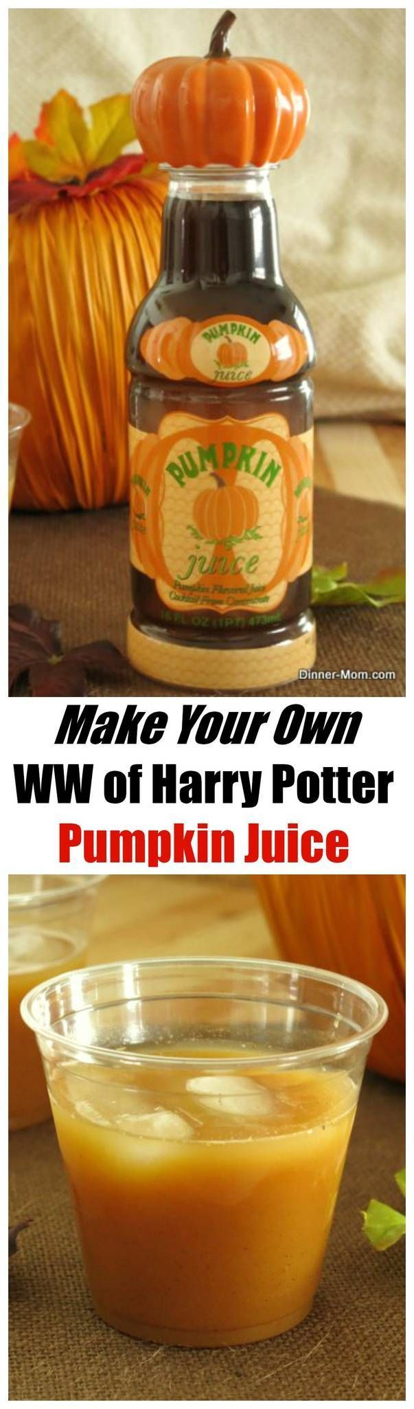 Easy CopyCat Recipe for Harry Potter Pumpkin Juice - just like you'd find at the Wizarding World at Universal Studios.