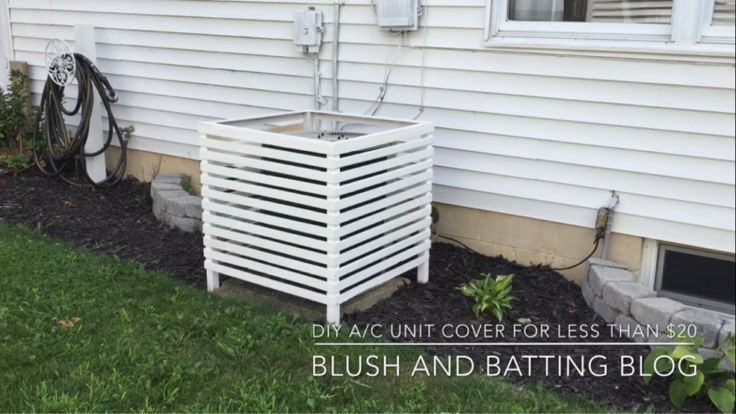 11 DIY AC Unit Covers That Are Easy To Make