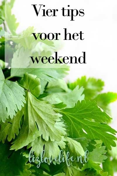 Lizlovelife Vier tips voor het weekend, week 8 2017 Tips voor het weekend