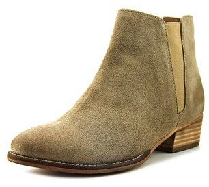 Seychelles Wake Women Round Toe Suede Nude Ankle Boot.