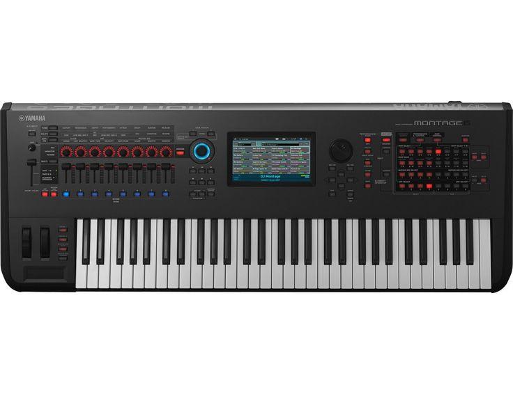Yamaha Montage 6  Le synthétiseur Yamaha MONTAGE 6 doté du Motion Control Synthesis Engine réunit deux systèmes de génération sonore : AWM2 (synthèse soustractive à base de formes d'onde de haute qualité) et FM-X, une version moderne de la synthèse FM avec des racines légendaires.