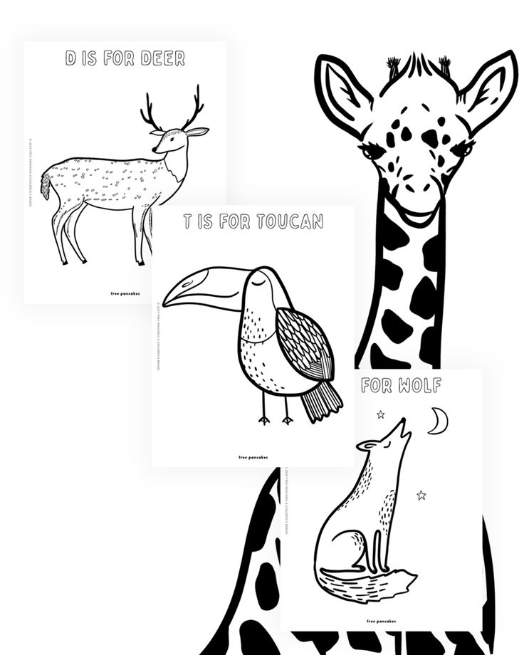 Printable Animal Coloring Worksheets for Children and