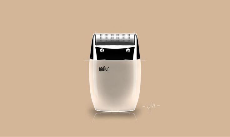 #Braun's S60 #Shaver. Created using #SketchBookPro  #productdesign #industrialdesign #idsketching