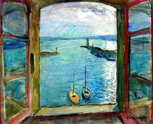 Window overlooking the Port of Saint-Tropez - the Artists Studio Charles Camoin - circa 1963