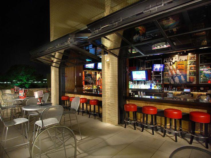 Roof Top Bar With Glass Bifold Doors. Restaurant Patio ...