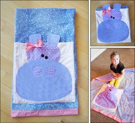 """Parties and Patterns: Easy Quillow Patterns """"Hippo"""""""