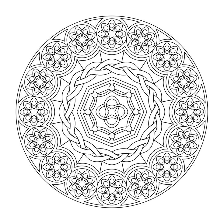 Printable Mandalas - relaxation day activity idea.  I remember coloring these!