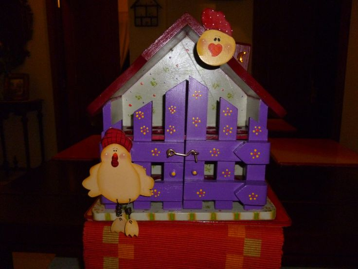 Egg house with chicken by CraftsElisa on Etsy