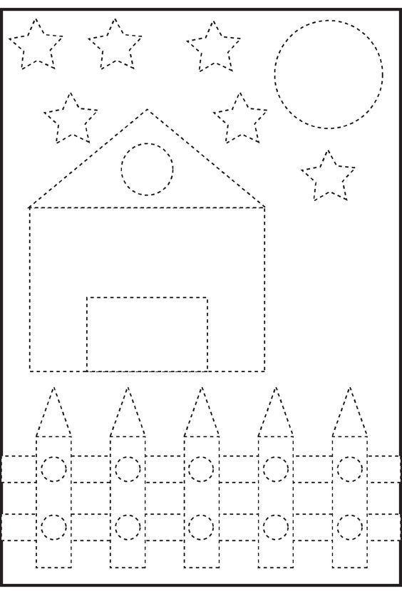 3-4-5 Yaş Çocuklar İçin Sevimli Çizgi Çalışmaları