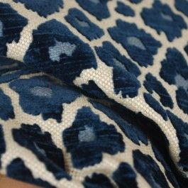 Simba Navy Blue Chenille Upholstery Fabric $26.99 per yard