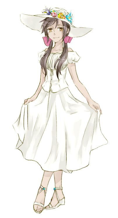 Day 8- Character who you look like the most. I look most like Seychelles, but with darker, shorter hair.
