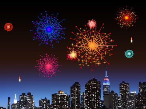 Fireworks Animation With Sound Sights and sounds: fireworks
